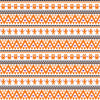 Orange black purple owl tribal pattern craft  vinyl - HTV -  Adhesive Vinyl -  Aztec Peruvian pattern Halloween HTV303