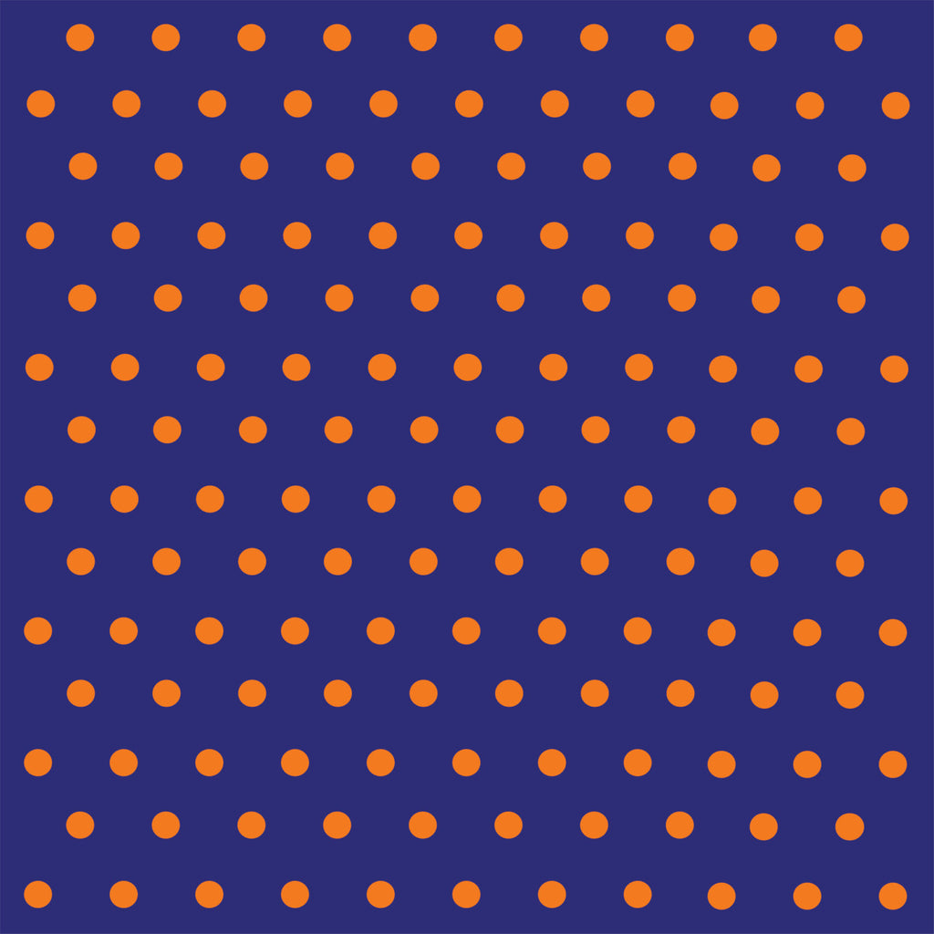 Navy blue with orange polka dots craft  vinyl - HTV -  Adhesive Vinyl -  polka dot pattern   HTV134