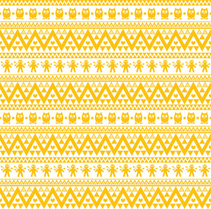 Yellow gold owl tribal pattern craft  vinyl - HTV -  Adhesive Vinyl -  Aztec Peruvian pattern HTV325
