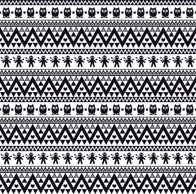 Black owl tribal pattern craft vinyl - HTV -  Adhesive Vinyl -  Aztec Peruvian pattern HTV332 - Breeze Crafts