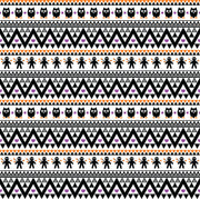 Black purple and orange owl tribal pattern craft vinyl - HTV -  Adhesive Vinyl -  Aztec Peruvian pattern Halloween  HTV312 - Breeze Crafts
