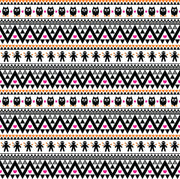 Black magenta and orange owl tribal pattern craft vinyl - HTV -  Adhesive Vinyl -  Aztec Peruvian pattern Halloween  HTV314 - Breeze Crafts