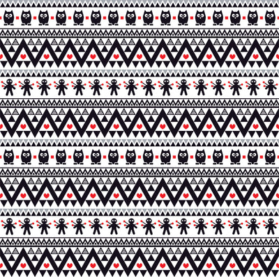 Black gray red owl tribal pattern craft  vinyl - HTV -  Adhesive Vinyl -  Aztec Peruvian pattern Halloween  HTV315 - Breeze Crafts