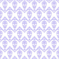 Lavender and white floral skull pattern craft vinyl sheet - HTV -  Adhesive Vinyl -  Halloween pattern HTV811