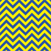 Blue and yellow chevron craft  vinyl - HTV -  Adhesive Vinyl -  large zig zag pattern   HTV138 - Breeze Crafts