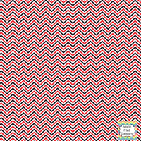 Red black and white mini chevron craft  vinyl - HTV -  Adhesive Vinyl -  zig zag pattern HTV1503