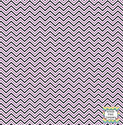 Black, orchid and white mini chevron craft  vinyl - HTV -  Adhesive Vinyl -  zig zag pattern HTV1510 - Breeze Crafts