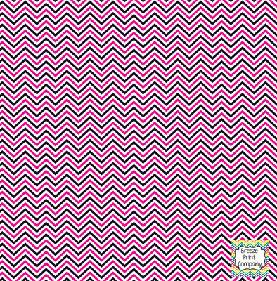 Black, magenta and white mini chevron craft  vinyl - HTV -  Adhesive Vinyl -  zig zag pattern HTV1511 - Breeze Crafts