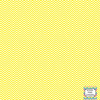 Yellow and white mini chevron craft  vinyl - HTV -  Adhesive Vinyl -  zig zag pattern HTV1515
