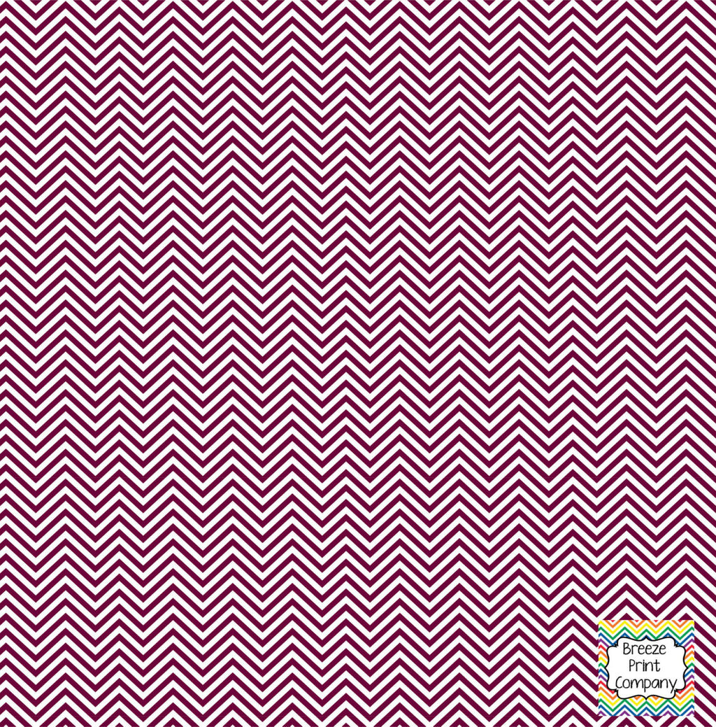 Maroon and white mini chevron craft  vinyl - HTV -  Adhesive Vinyl -  zig zag pattern HTV1525