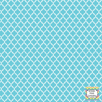 Aqua Quartrefoil craft  vinyl - HTV -  Adhesive Vinyl -  quarterfoil pattern   HTV1402 - Breeze Crafts
