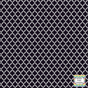 Black and white quartrefoil craft  vinyl - HTV -  Adhesive Vinyl -  quartrefoil pattern   HTV1404 - Breeze Crafts