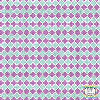 Mint and orchid purple quatrefoil craft  vinyl - HTV -  Adhesive Vinyl -  quatrefoil pattern   HTV1426