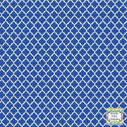 Blue and white quartrefoil craft  vinyl - HTV -  Adhesive Vinyl -  quartrefoil pattern   HTV1405 - Breeze Crafts