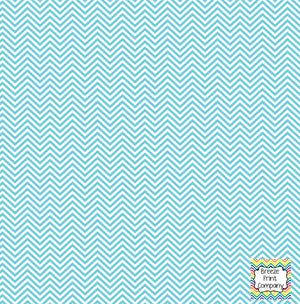 Aqua and white mini chevron craft  vinyl - HTV -  Adhesive Vinyl -  zig zag pattern HTV1540 - Breeze Crafts