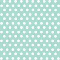 Mint with white polka dot pattern craft  vinyl - HTV -  Adhesive Vinyl -  medium polka dots HTV1605