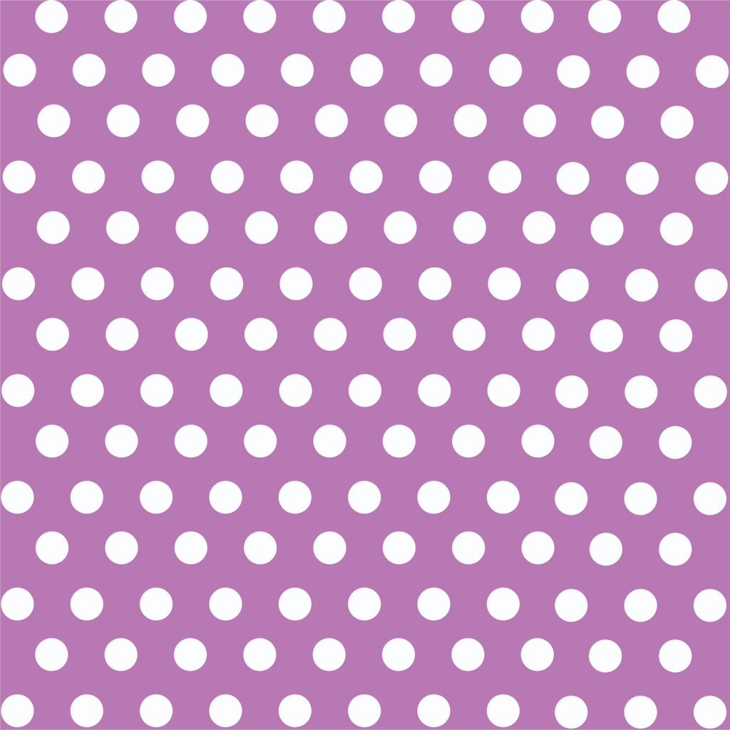 Orchid with white polka dot pattern craft  vinyl - HTV -  Adhesive Vinyl -  medium polka dots HTV1626
