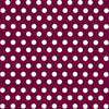 Maroon with white polka dot pattern craft  vinyl - HTV -  Adhesive Vinyl -  medium polka dots HTV1627