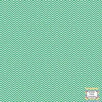 Green and white mini chevron craft  vinyl - HTV -  Adhesive Vinyl -  zig zag pattern HTV1532