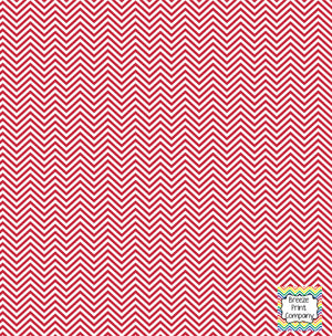 Brick red and white mini chevron craft  vinyl - HTV -  Adhesive Vinyl -  zig zag pattern HTV1537 - Breeze Crafts