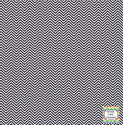 Black and white mini chevron craft  vinyl - HTV -  Adhesive Vinyl -  zig zag pattern HTV1539 - Breeze Crafts