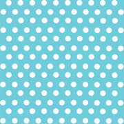 Aqua with white polka dot pattern craft  vinyl - HTV -  Adhesive Vinyl -  medium polka dots HTV1606 - Breeze Crafts