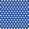 Blue with white polka dot pattern craft  vinyl - HTV -  Adhesive Vinyl -  medium polka dots HTV1609 - Breeze Crafts