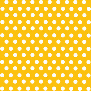 Yellow gold with white polka dot pattern craft  vinyl  - HTV -  Adhesive Vinyl -  medium polka dots HTV1618