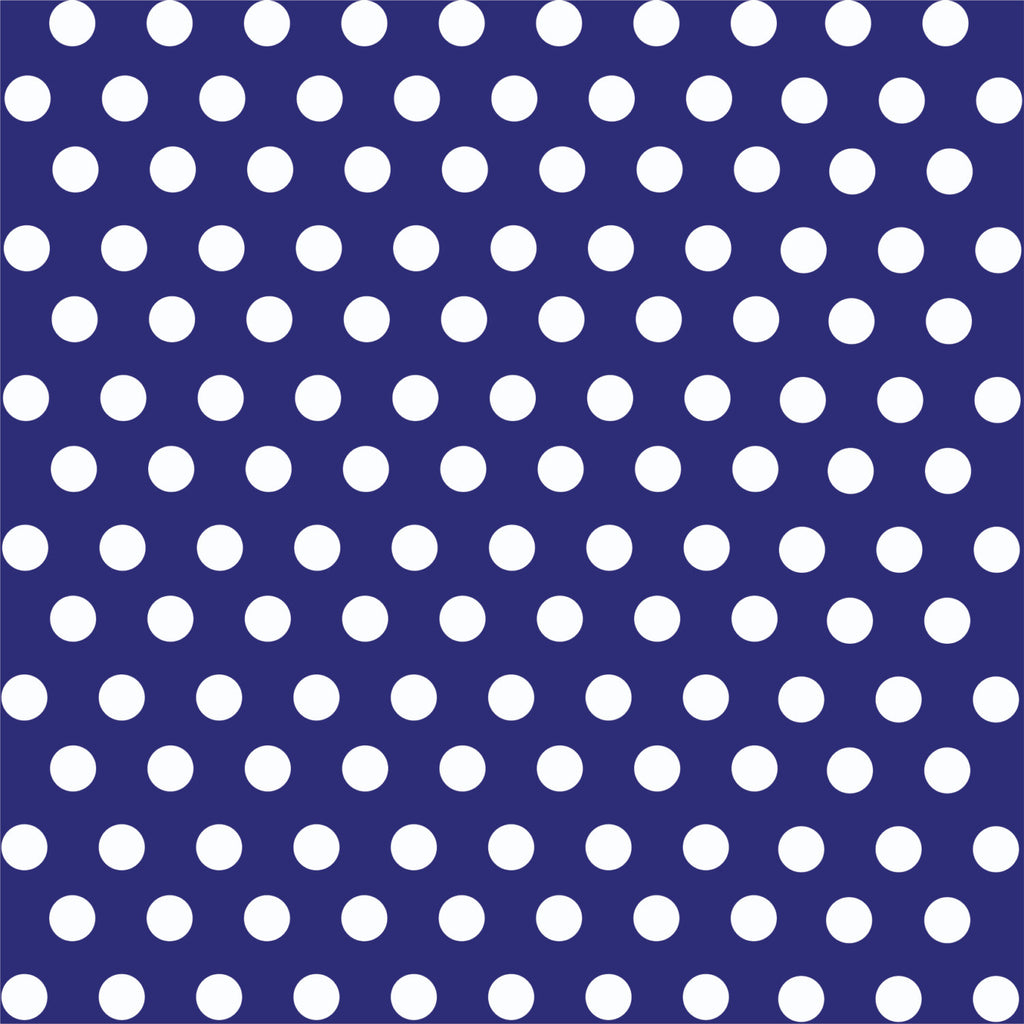 Navy with white polka dot pattern craft  vinyl - HTV -  Adhesive Vinyl -  medium polka dots HTV1621