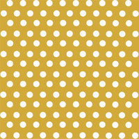 Gold with white polka dot pattern craft  vinyl - HTV -  Adhesive Vinyl -  medium polka dots HTV1622 - Breeze Crafts