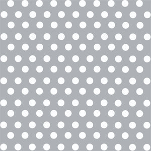 Grey with white polka dot pattern craft  vinyl - HTV -  Adhesive Vinyl -  medium polka dots HTV1624