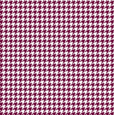 Maroon houndstooth craft  vinyl sheet - HTV -  Adhesive Vinyl -  maroon and white pattern vinyl  HTV426