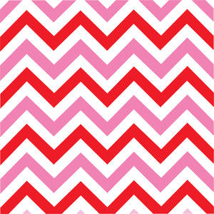 Pink and red chevron craft  vinyl - HTV -  Adhesive Vinyl -  medium pink, red and white large zig zag pattern   HTV175