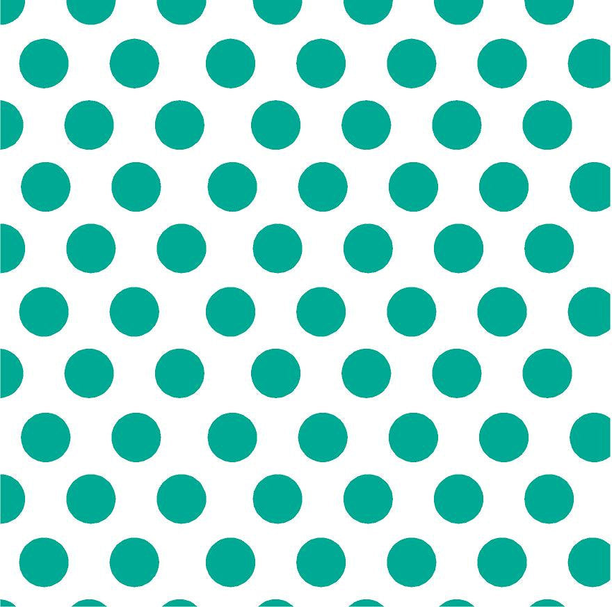 Teal polka dot craft  vinyl - HTV -  Adhesive Vinyl -  white with large polka dot pattern HTV753