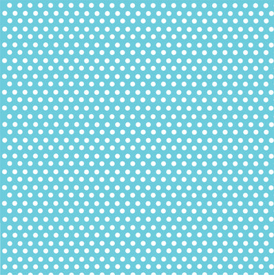Aqua with white mini polka dots craft  vinyl - HTV -  Adhesive Vinyl -  polka dot pattern HTV2327 - Breeze Crafts