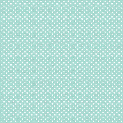 Mint green with white mini stars craft  vinyl sheet - HTV -  Adhesive Vinyl -  star pattern HTV2403