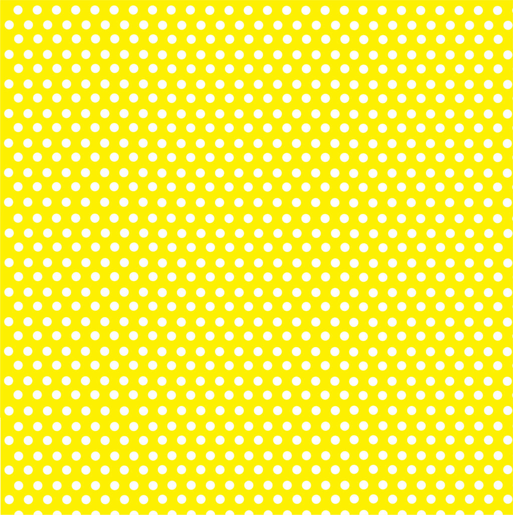 Yellow with white mini polka dots craft  vinyl - HTV -  Adhesive Vinyl -  polka dot pattern HTV2300