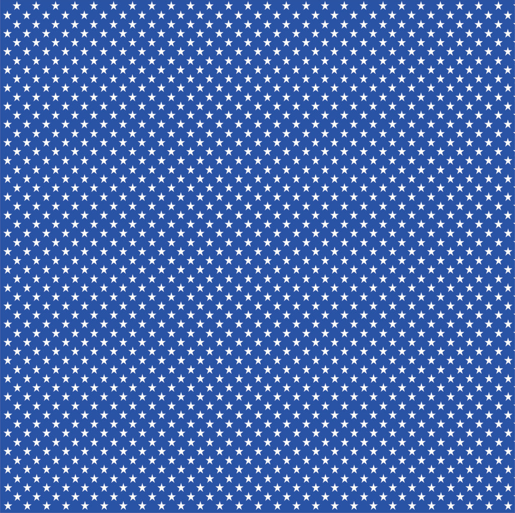 Blue with white mini stars craft  vinyl sheet - HTV -  Adhesive Vinyl -  star pattern HTV2407 - Breeze Crafts