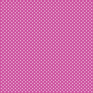 Fuchsia with white mini stars craft  vinyl sheet - HTV -  Adhesive Vinyl -  star pattern HTV2410 - Breeze Crafts