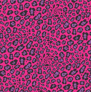 Magenta and purple Leopard print craft  vinyl sheet - HTV -  Adhesive Vinyl -   pink and black cheetah print vinyl  HTV2700