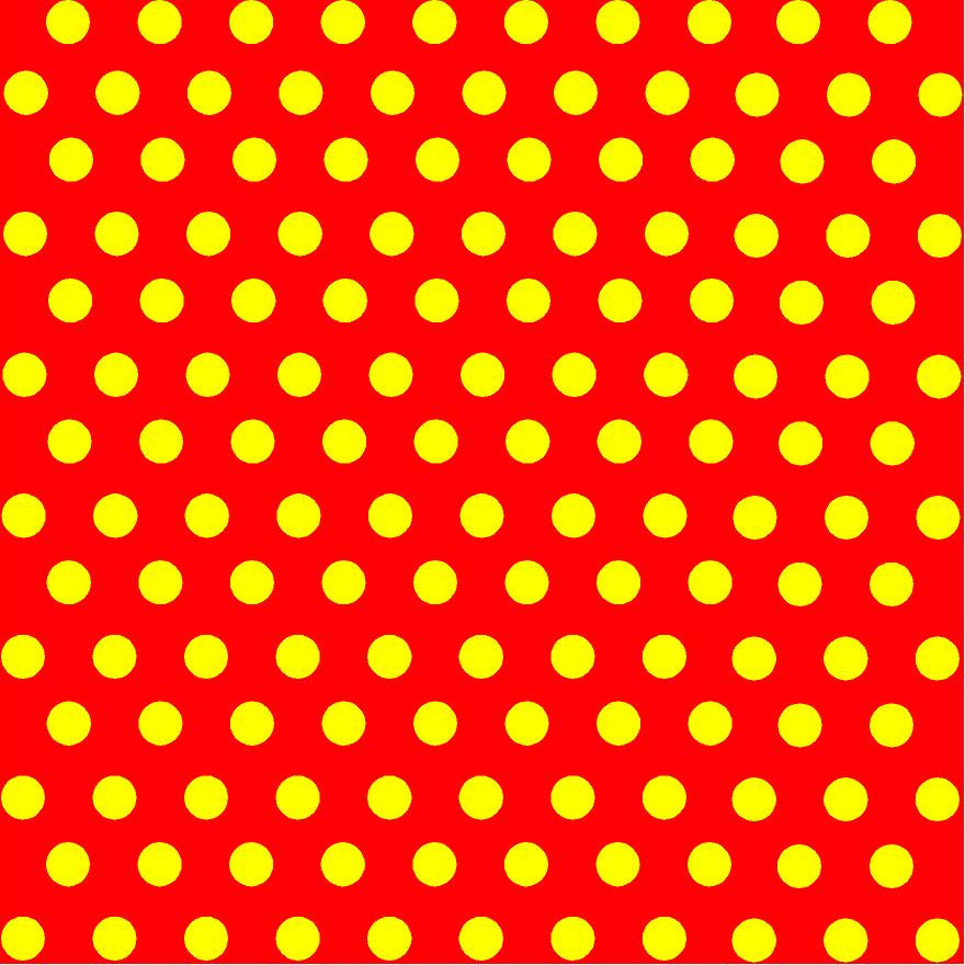 Red with yellow polka dot pattern craft  vinyl - HTV -  Adhesive Vinyl -  medium polka dots HTV4103