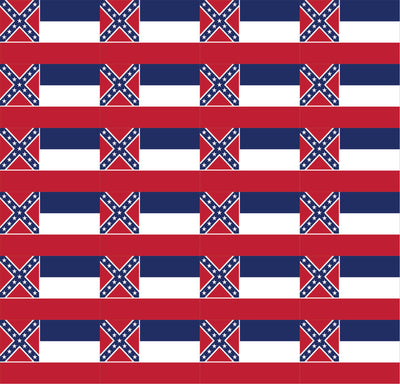 Mississippi flag print craft  vinyl sheet - HTV -  Adhesive Vinyl -  24 - 2x3 flags on 1  sheet - HTV -  Adhesive Vinyl -  HTV3003