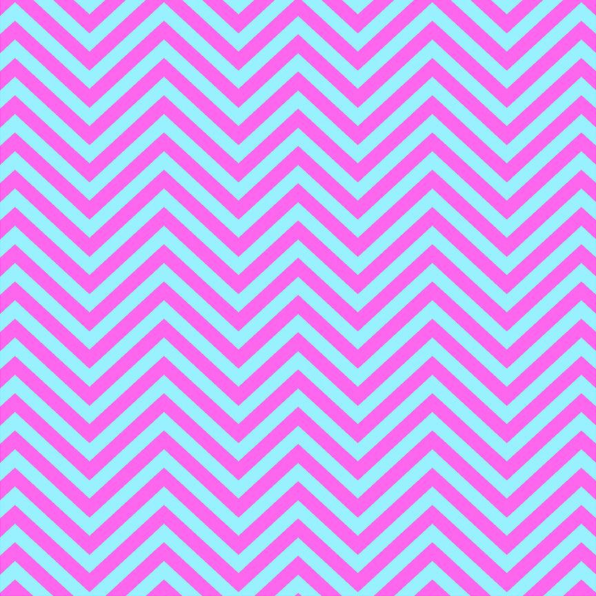 Pink and light blue chevron craft  vinyl- HTV -  Adhesive Vinyl -  zig zag pattern medium pink  HTV4101