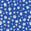 Blue with white paw prints craft  vinyl sheet - HTV -  Adhesive Vinyl -   pattern HTV603 - Breeze Crafts