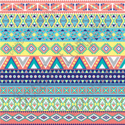Aztec tribal pattern craft  vinyl coral, aqua, gray, yellow, teal, and navy - HTV -  Adhesive Vinyl -  Peruvian pattern HTV2100 - Breeze Crafts