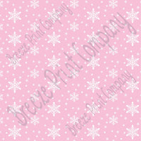 Light pink snowflake craft  vinyl sheet - HTV -  Adhesive Vinyl -  winter pattern holiday HTV1308