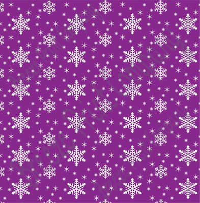 Purple snowflake craft  vinyl sheet - HTV -  Adhesive Vinyl -  winter pattern holiday HTV1315