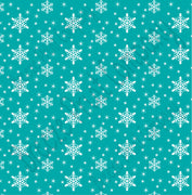 Teal snowflake craft  vinyl sheet - HTV -  Adhesive Vinyl -  winter pattern holiday Christmas HTV1317