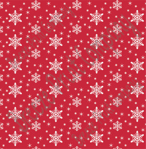 Brick red snowflake craft  vinyl sheet - HTV -  Adhesive Vinyl -  winter pattern  HTV1302 - Breeze Crafts