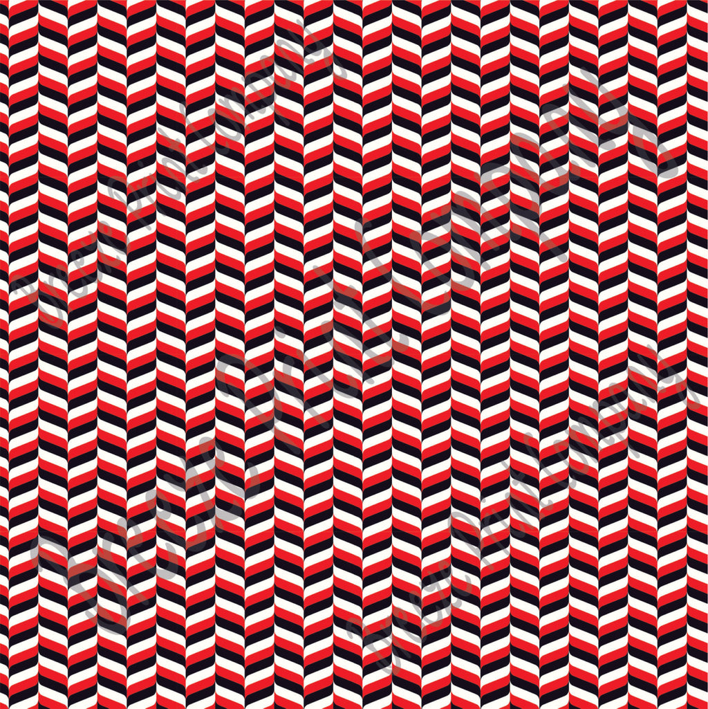 Red, black and white craft  vinyl - HTV -  Adhesive Vinyl -  chevron herringbone zig zag pattern HTV3201